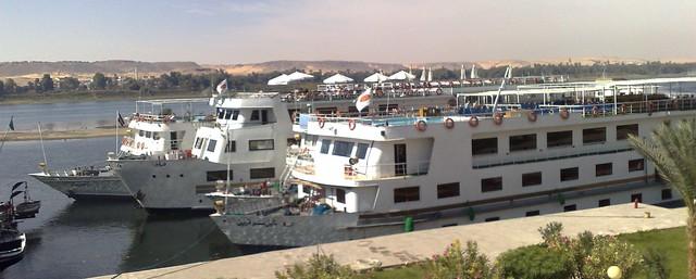 Nile boats at Aswan