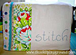 Bloom Stitch Sewing Machine Cover