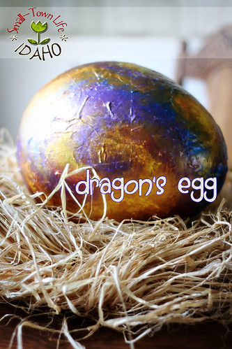 Paper Mache Dragon Egg