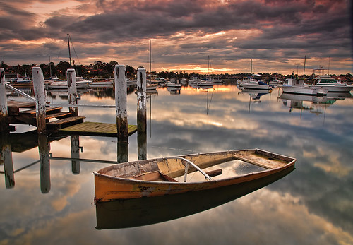 sunset water boat jetty sydney australia 5d thumbsup ironcove gamewinner canonef24105mmf4lisusm favescontestwinner thechallengefactory ©richardtaylor 20110731img7156
