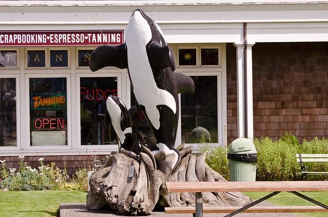 Orca Statue Long Beach, WA