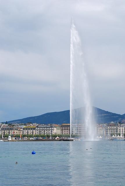 Le Jet d'eau de Ginebra