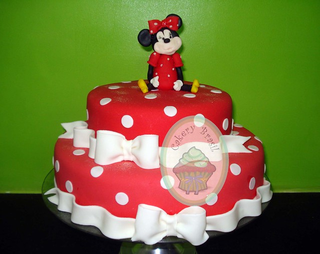 Bolo Minnie Mouse   Minnie Mouse Cake
