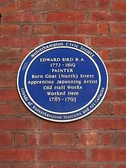 Photo of Edward Bird blue plaque