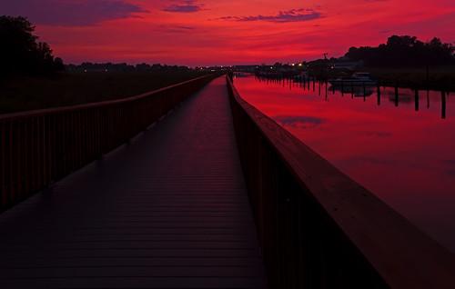 sun sunrise bay maryland boardwalk chesapeake calvert chesapeakebay chesapeakebeach calvertcounty fishingcreek