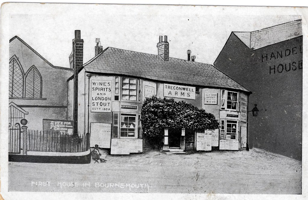 THE TREGONWELL ARMS. OLD CHRISTCHURCH RD. BOURNEMOUTH. 1809 - 1855.