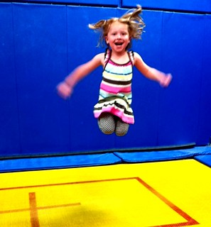 Gymnastics at Kai's birthday party | by markandmandy