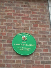 Photo of D. H. Lawrence green plaque