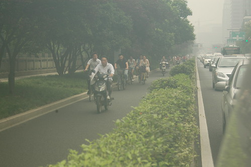 People going to work in Hangzhou