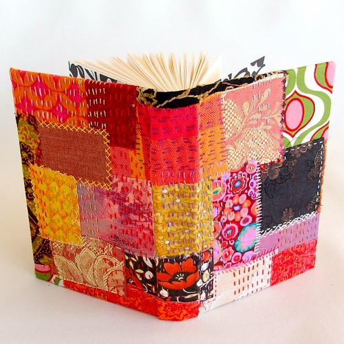 Embroidered Book Cover Tutorial : Kantha see i m busy week running stitch tast the