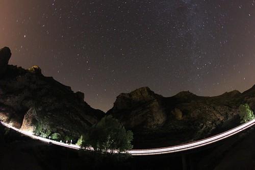 La vía láctea desde la Vía Verde del Cidacos / Flickr: Roberto Cacho