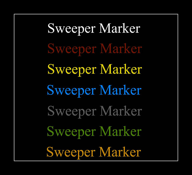 Sweeper Marker **Do Not Comment**