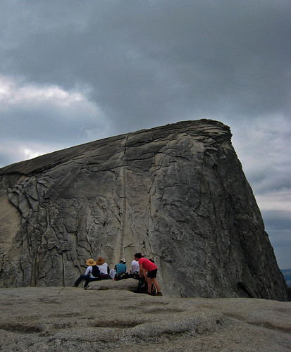 Thunderclouds on Half Dome