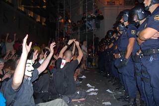 Una protesta del 15M