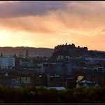 Edinburgh Skyline at Sunset