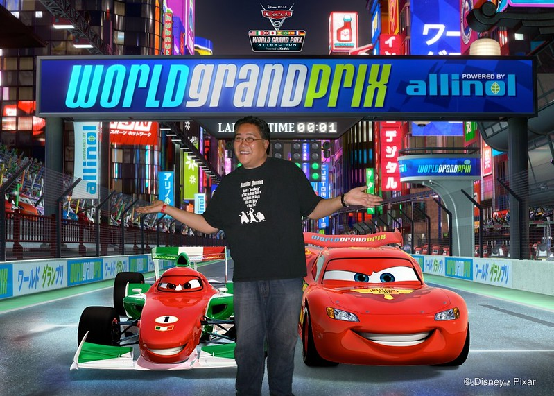 Photo Finish Photos taken at the Cars 2 World Grand Prix Attraction at the El Capitan