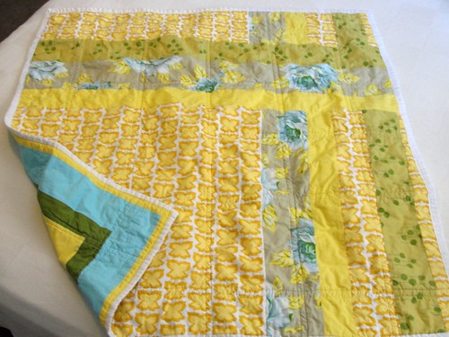 Swoon Baby Quilt- back