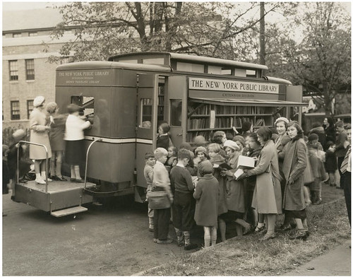 Children led astray by the Bronx Traveling Library, Westchester Square branch, New York. by Robert Barone