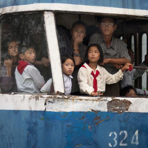 Tramway in Pyongyang - North Korea