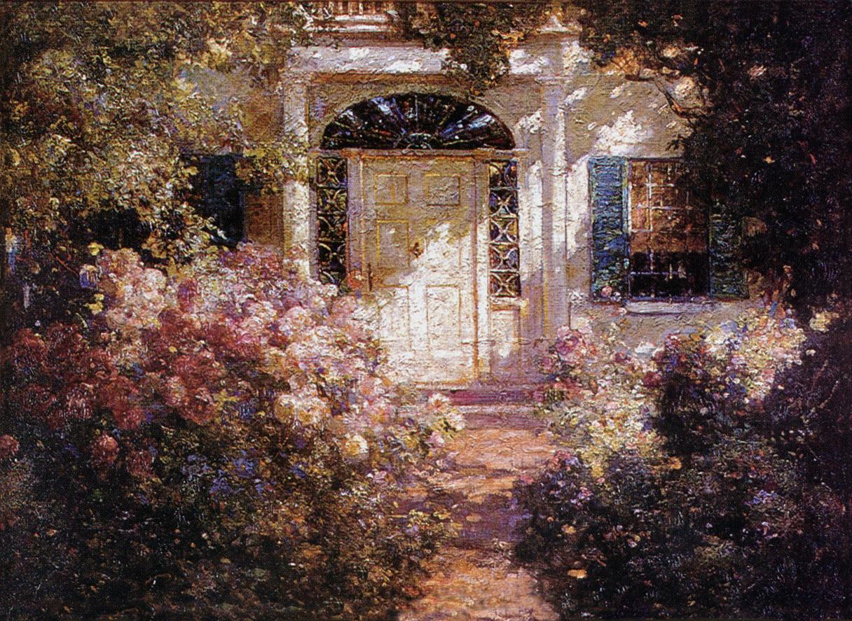 abbott fuller graves  u0026quot doorway and garden u0026quot   c  1900