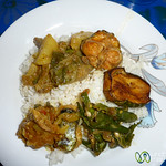 Bangladeshi Dinner at Home Stay - Hatiandha, Bangladesh