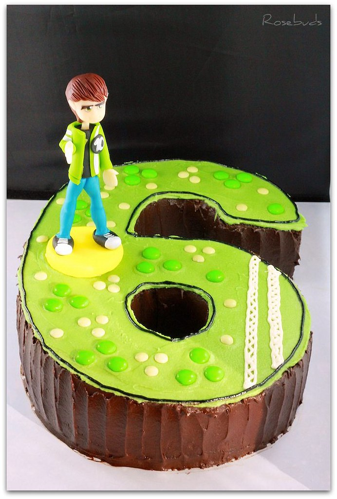 Boys 6th Birthday Cake - Ben10