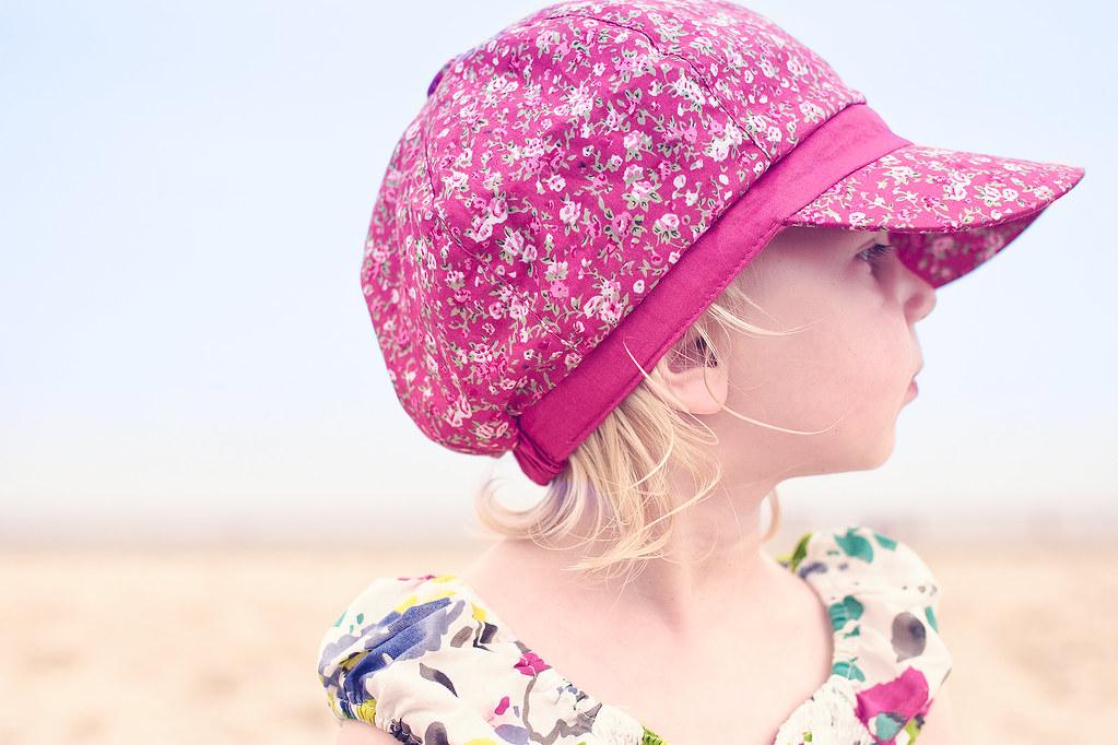 Mila at the beach.