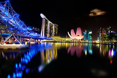 Singapore Marina Bay: Helix Bridge, Marina Bay Sands, ArtScience Museum