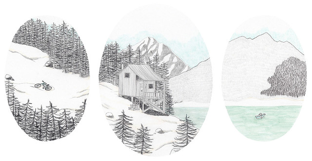 cabin triptych