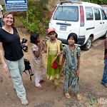 Audrey with Kids in Rangamati, Bangladesh
