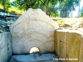 Citânia de Briteiros  Póvoa de Lanhoso yakın görüntü. portugal são siti portogallo guimarães età ferro preistorico preistoria romão briteiros citânia
