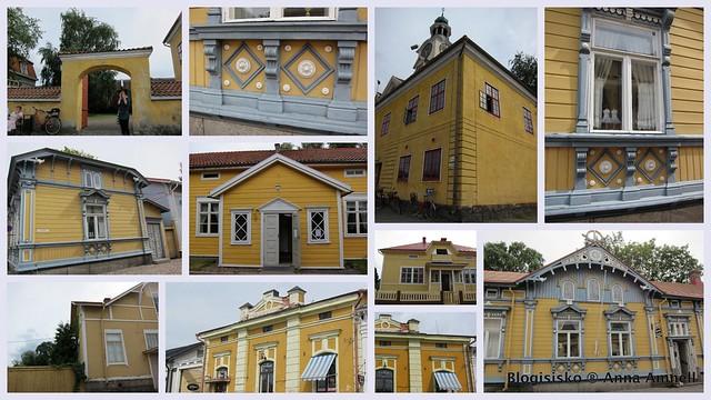 Rauma-talot-keltaiset puutalot