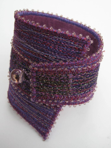 Mauve Satatement Wedge Cuff Bracelet