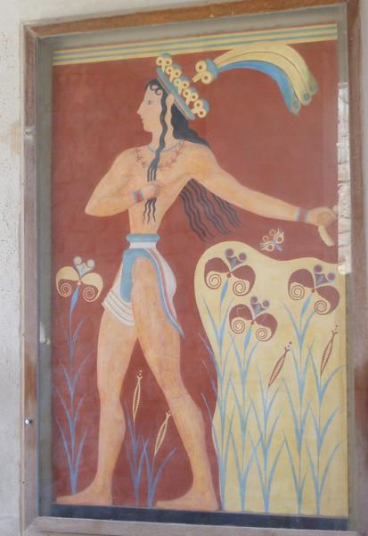 Lily prince,Knossos Palace,Crete,Greece