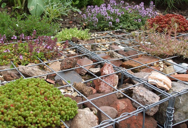 Newly Built Gabion Wall With Alpines Flickr Photo Sharing