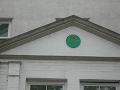 Photo of John Wesley and Thomas Coke green plaque