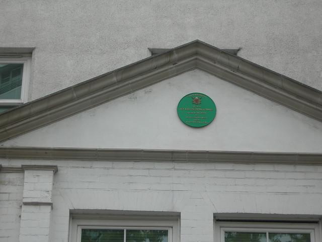 Photo of John Wesley and Thomas Coke green plaque