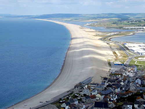 Chesil Beach from Portland in Weymouth, Dorset, England - July 2011
