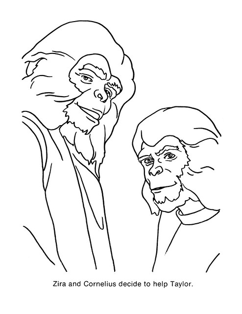 Planet of the Apes Coloring Book 0100058