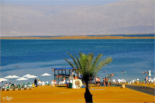 Dead Sea in the middle of the morning