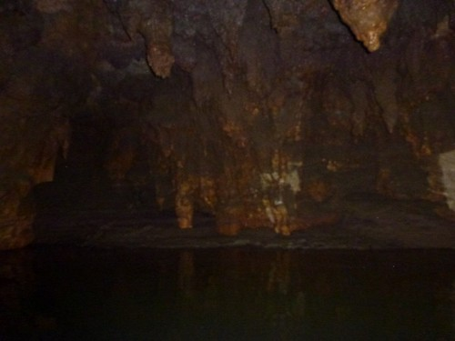 Inside the Waitomo caves