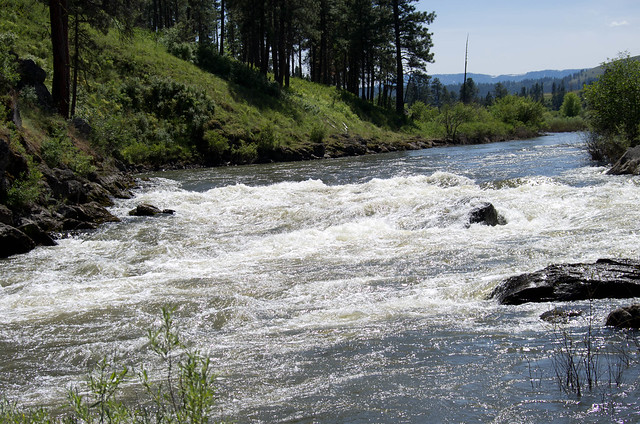 Andy's Rapid on the Grande Ronde at 8,000 cfs