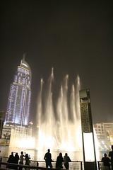 Wasserfontänen am Burj Khalifa