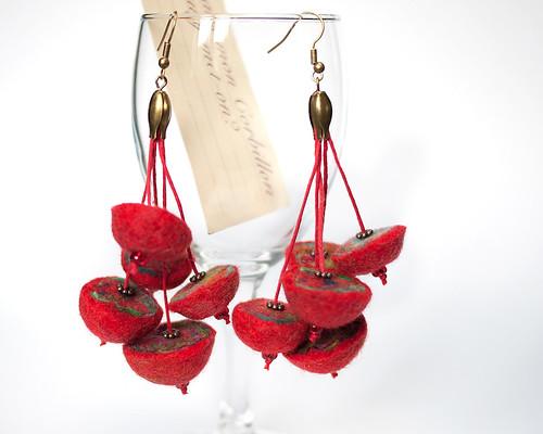 BO demi-perles rouges