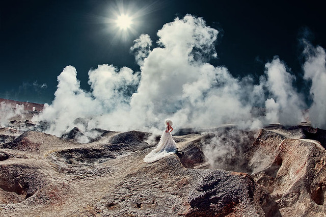 Bolivia Geysers 4900 meters high - bride, fashion
