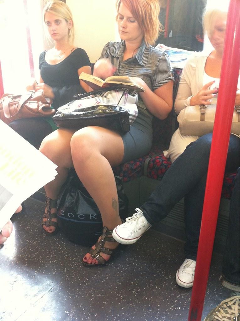 Cock between her legs