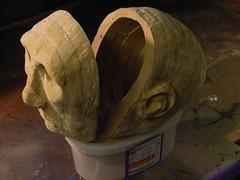 Automata head opened out