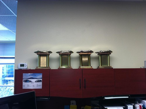 hondata landspeed records trophies in their office