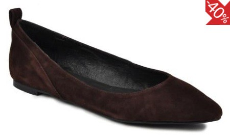 Georgia Rose brown suede flats