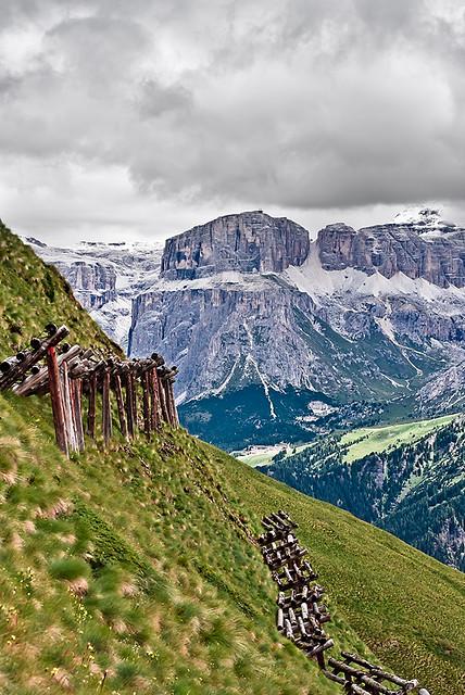 Landscape Mountains Dolomites Passo del Sella